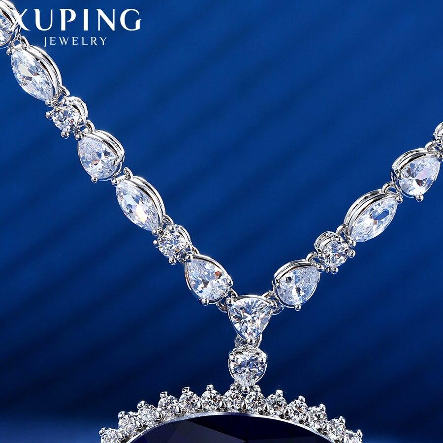 Xuping ожерелье в форме сердца с синтетическим кубическим цирконием, ювелирные изделия для женщин, подарки на Рождество, M11 43164 - 5