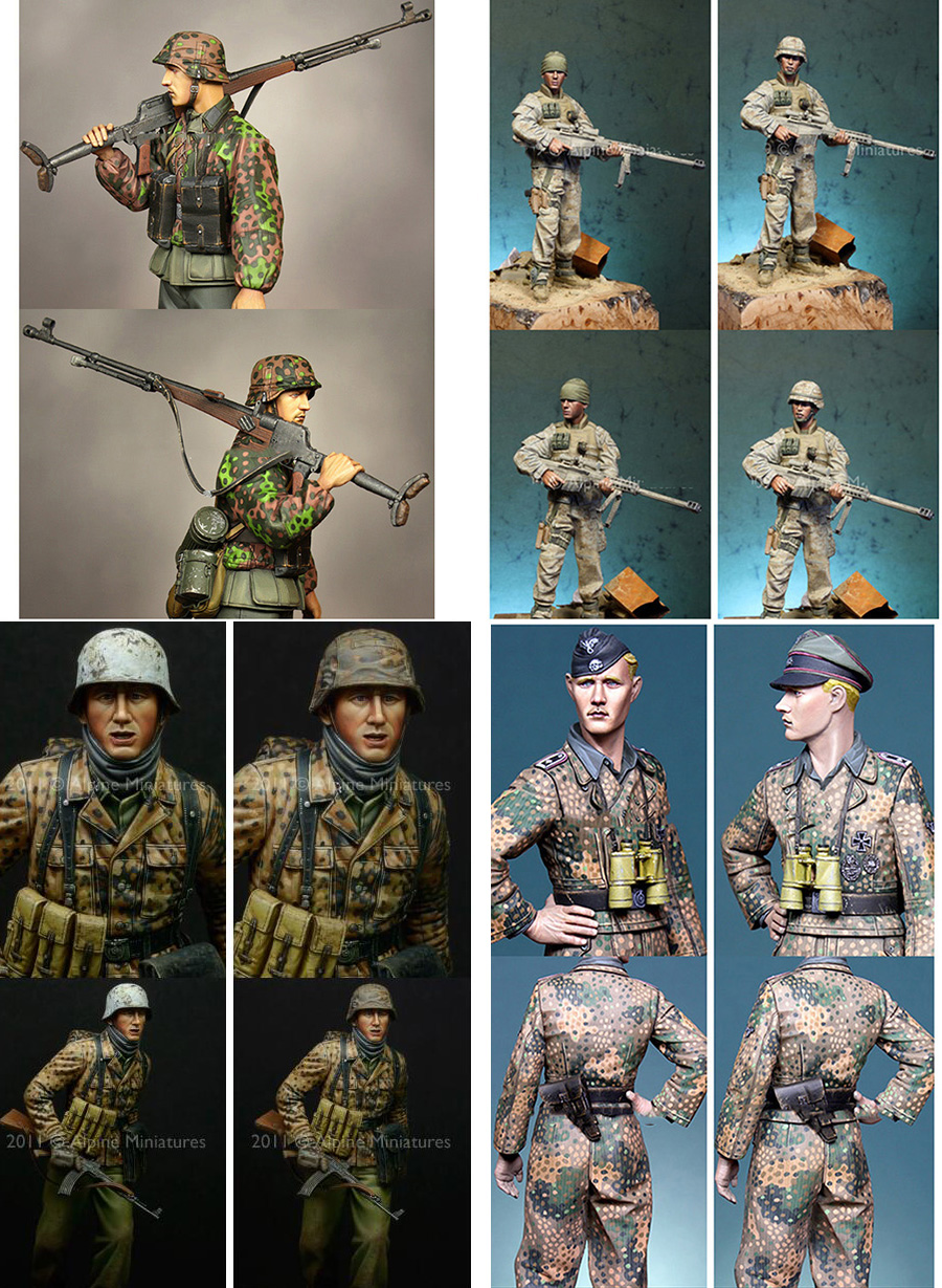 Assembly Unpainted Scale 1/16 120mm Modern USMC and German Infantry 120mm figure Historical WWII Resin Model Miniature Kit scale models 1 16 120mm soviet scout soldier ww2 120mm figure historical wwii resin model free shipping