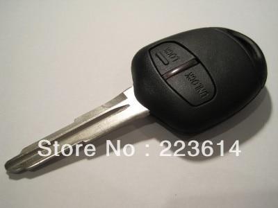 Nouvelle clé à distance à 2 boutons pour Mitsubishi L200 Shogun Pajero Triton avec lame droite non coupée (MIT11) 433 mhz / 315 mhz avec puce ID46