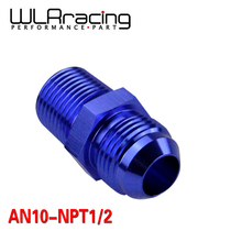 WLR RACING - (AN10-NPT1/2) AN10 to 1/2 NPT Straight Adapter Flare Fitting auto hose fitting Male WLR-SL816-10-08-011