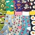 35-43 Unissex Meias Tripulação de ALIMENTOS KAWAII Amor Omelete Frutas Sushi Onigiri Abacate Salmão Camarão Polvo Do Queque Lolly Brinde IceCream