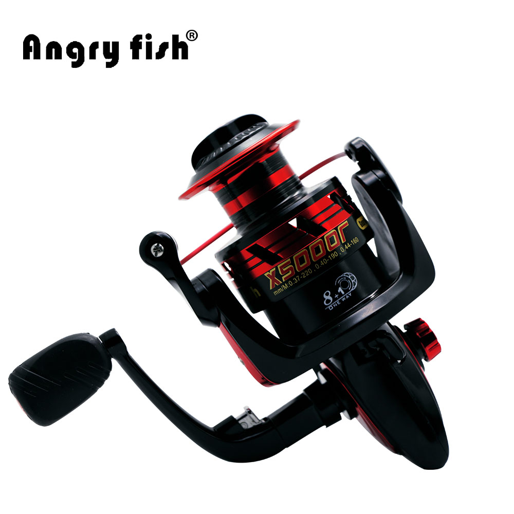X5000 spinning wheel fishing reel 8 1 hand reel casting for Handline fishing reel