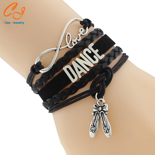 Drop Shipping Infinity Love Dance Bracelet Custom Hobbies Shoes Charm Friendship Gift For S