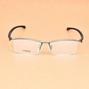 Image 3 - העסקי גדול משקפיים מסגרת גברים משקפי טהור טיטניום אופטי מרשם Oculos גדול גודל משקפיים