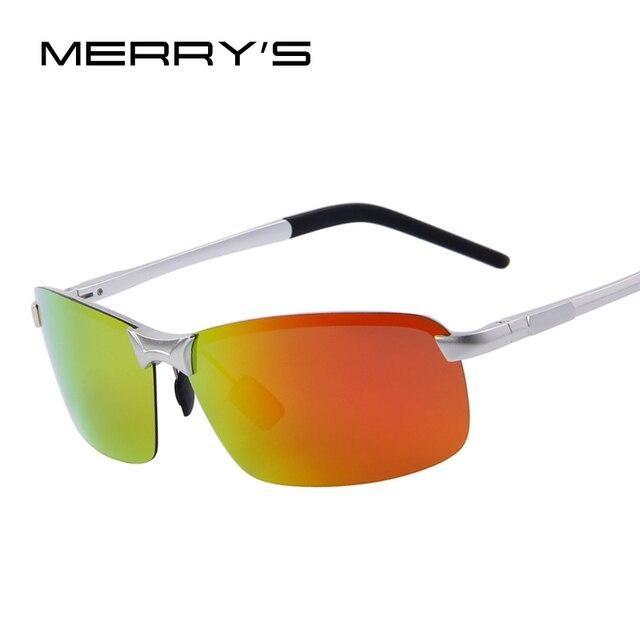 MERRY'S Moda Hombres de Aluminio Polarizado gafas de Sol de Verano Ultraligero Frame Mirror Lens gafas de Sol gafas de sol UV400