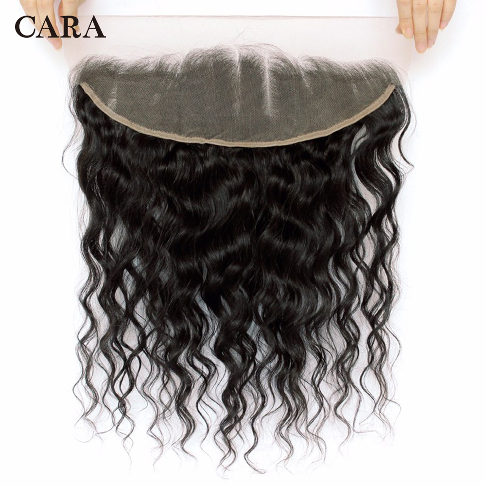 Loose Wave Lace Frontal Closure Brazilian Remy Hair 13x4 Free Part Pre Plucked Natural Hairline With Baby Hair CARA
