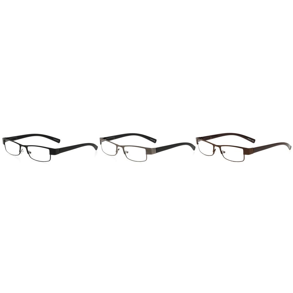 The old Reading Glasses Metal Eyeglasses Black Frame Rectangle ...