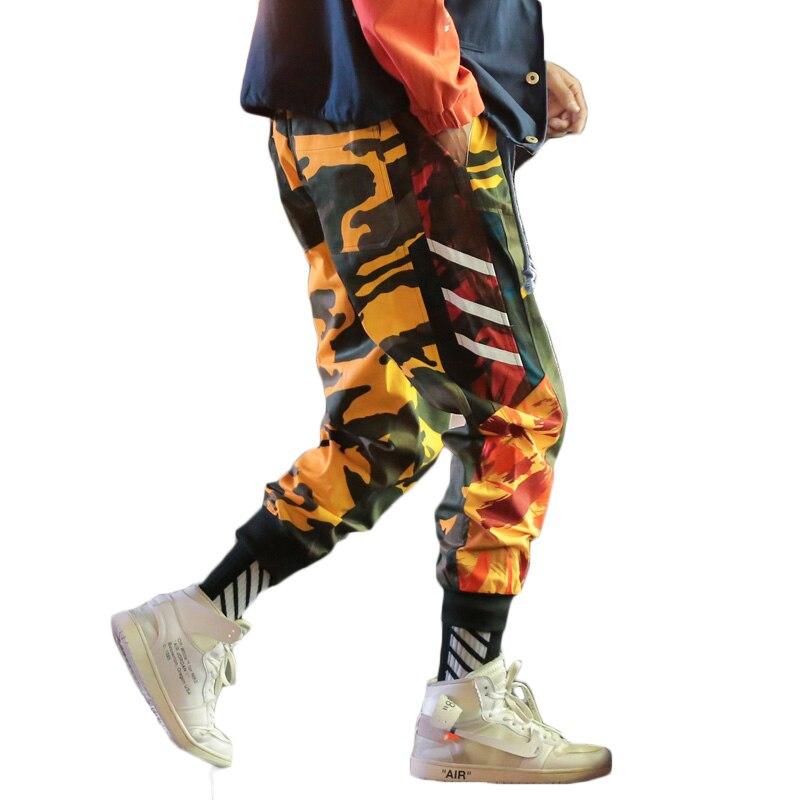 fe7c353b0bd557 Mens harajuku yellow orange camo harem pants men hiphop pantalon camouflage  homme trousers plus size joggers streetwear 5XL CK31