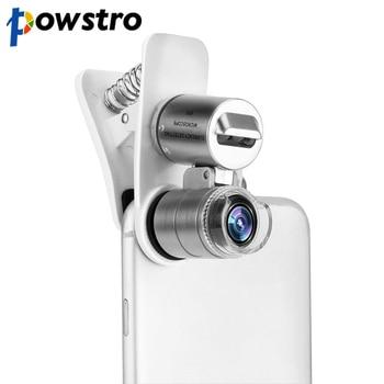 7a5b5bb2f90 Teléfono Móvil Universal microscopio Macro lente 60X Zoom óptico Micro  Cámara lentes LED para iPhone SE 5S 6 s más
