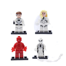 4PCS/lot Marvel super heros Original Blocks Action toy Figures Decool 4 style Model Building blocks sets gift for boy kids toys