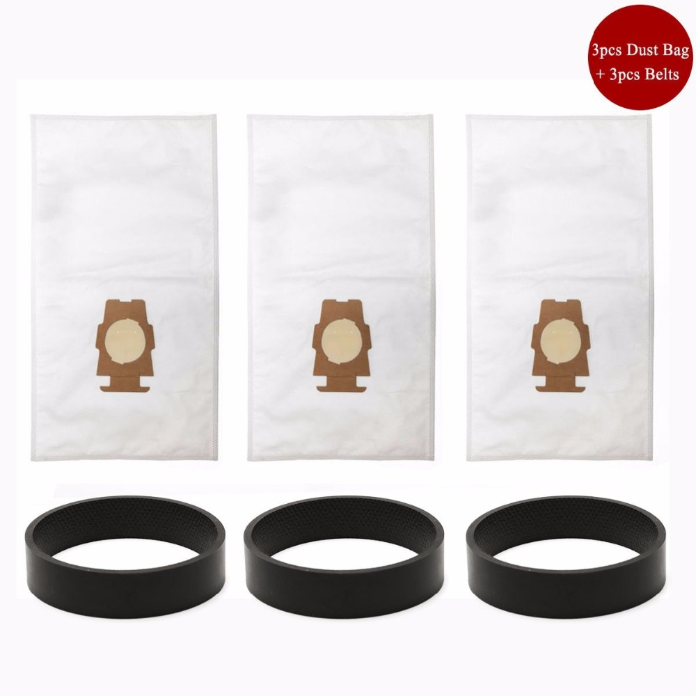 3pcs Kirby Universal Bag suitable + 3 Belts for Kirby Universal Hepa Cloth Microfiber dust Bags for KIRBY Sentrial F/T 204808 1 pcs for kirby sentrial f t dust bag for kirby universal bag suitable for kirby universal hepa cloth microfiber dust bags