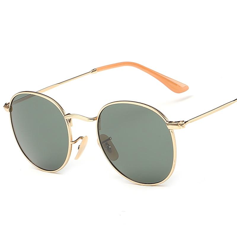 Gafas de sol redondas polarizadas para hombres y mujeres 2018, nuevas gafas de marca de moda de diseñador Vintage para mujer, gafas de sol de conducción UV400