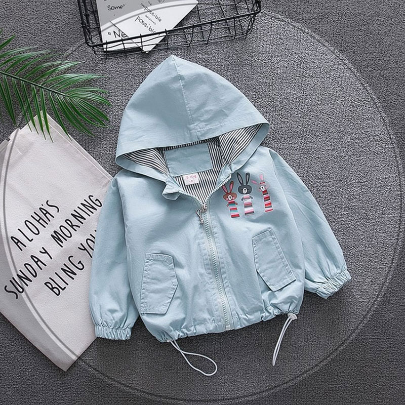 Spring newborn baby boys girls baby clothes outfits hooded windbreaker jacket outerwear child coats for baby clothing jackets
