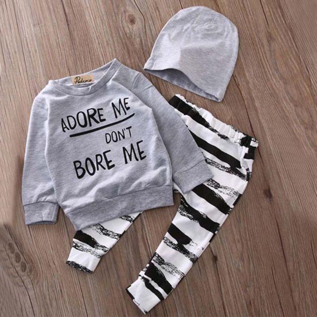 Newborn Baby Girl Dress boy suit 3 Pcs Long-sleeved Cotton Shirt+Trousers+Hat set Fashion sport clothing Star Wars