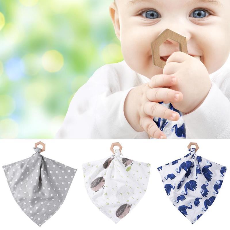 3Pcs Baby Rabbit Ears Teether Cotton Bibs Headband Infant Saliva Towel Care Set