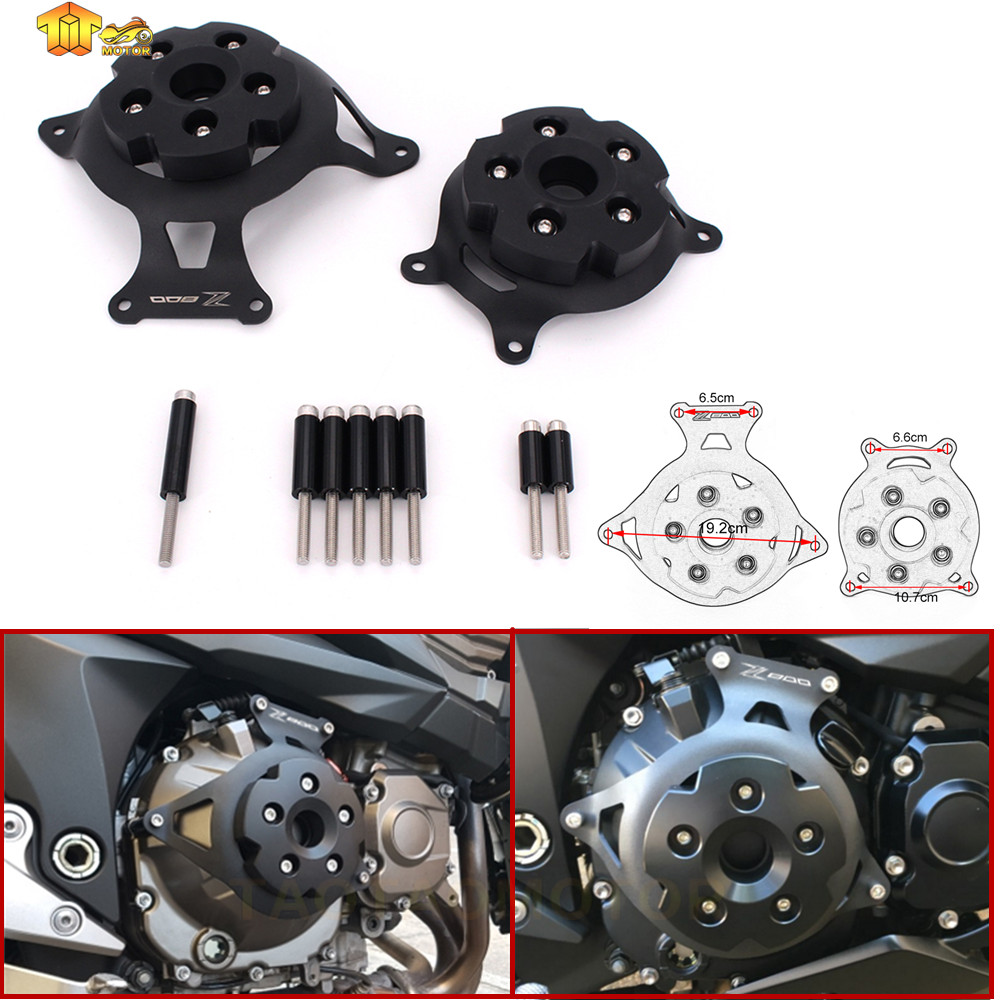 CK CATTLE KING 2pc Motorcycle Engine Stator Cover Engine Protective Cover For kawasaki z800 2013 2014