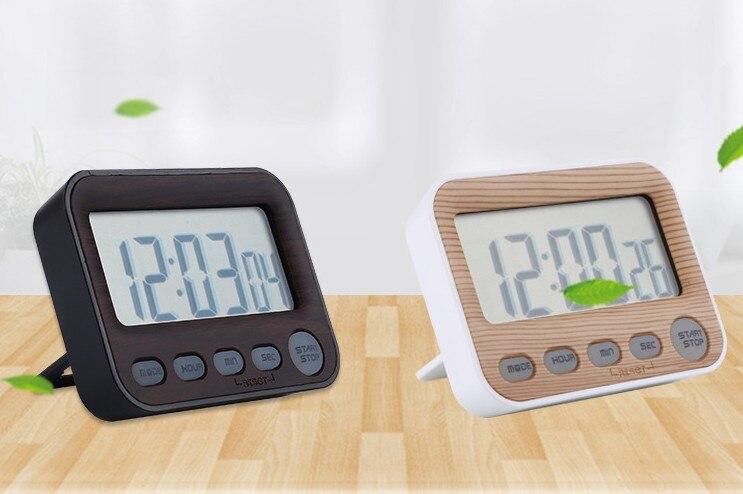 Électronique Numérique Cuisine Minuterie/Horloge avec Grand Écran Noir/Blanc ABS Alarme Couleur Horloge Compte À Rebours Rappel