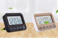 Electronic Digital Kitchen Timer/ Clock with Large Screen Black/White ABS Alarm Color Clock Countdown Reminder