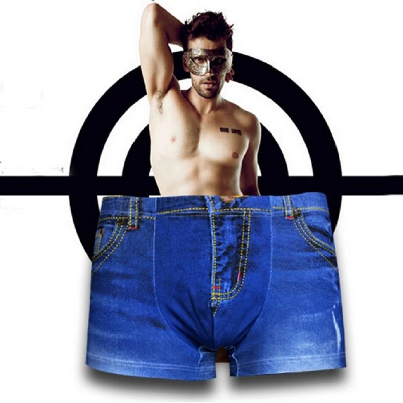 New Denim Jeans Men's Underwear Men's Boxers Cowboy