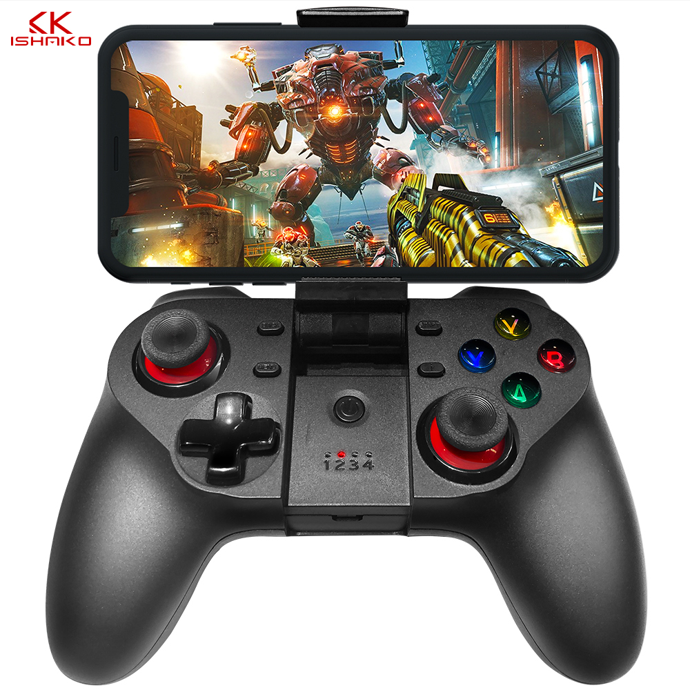 K ISHAKO Wireless Bluetooth Game Controller For Cell Phone Mobile Phone Joystick Controller for iPhone/ iPad/iOS/Android/Tablet-in Gamepads from Consumer Electronics