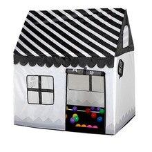 Игровая палатка, игрушка, портативный складной мяч, бассейн, яма, крытый, открытый, имитационный дом, черный и белый, палатка, подарки, игрушки для детей