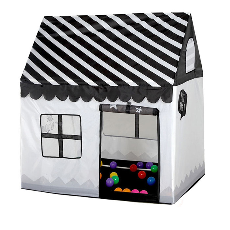 Play Tent Toy Portable Foldable Ball Pool Pit Indoor Outdoor Simulation House Black And White Tent Gifts Toys For Kids Children(China)
