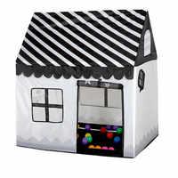 Tienda de campaña de juguete portátil plegable pelota piscina interior exterior simulación casa blanco y negro tienda de regalos juguetes para niños los niños