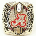 Wholesale Good Quality Factory Direct Sale NCAA 2015 Alabama national Replica gold plzted world Championship Rings