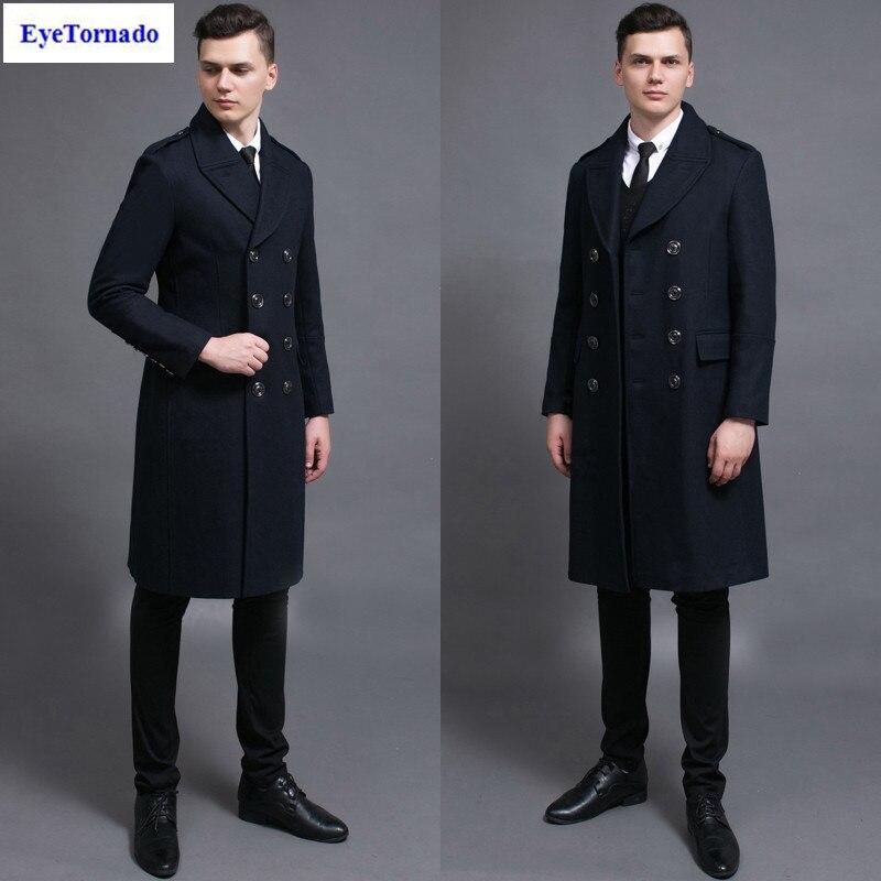 Popular Navy Pea Coat-Buy Cheap Navy Pea Coat lots from China Navy ...