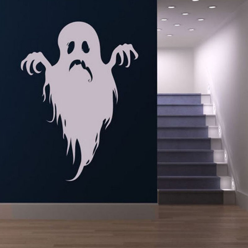 1 pc scary ghost wall sticker halloween living room wall decor decals vinyl self adhesive for - Halloween Wall Decor