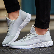 Venta caliente de Los Hombres Zapatos 2017 Hombres Zapatos Casuales de Verano de Aire Respirable Mesh Lace up Pisos Luz Moda Masculina Calzado Tamaño Grande 35-48