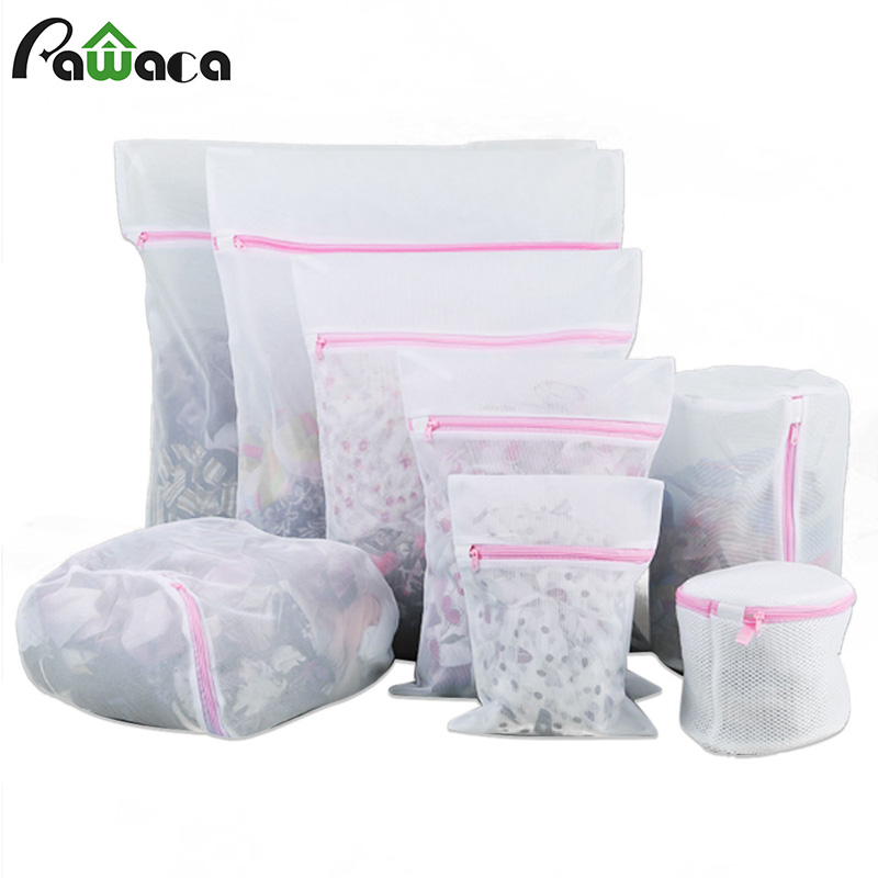 8PCS 6PCS Mesh Laundry Bags Durable Mesh Net Wash Bag Pouch Washing Machine Bag For Delicates Blouse Bra Socks Underwear Clothes