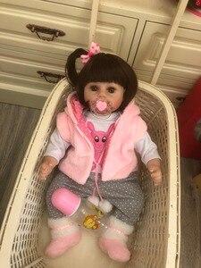 Image 5 - NPK 48cm 소프트 리얼 터치 실리콘 boneca bebes reborn 실리콘 reborn 유아 아기 인형 kids 생일 크리스마스 선물 인기
