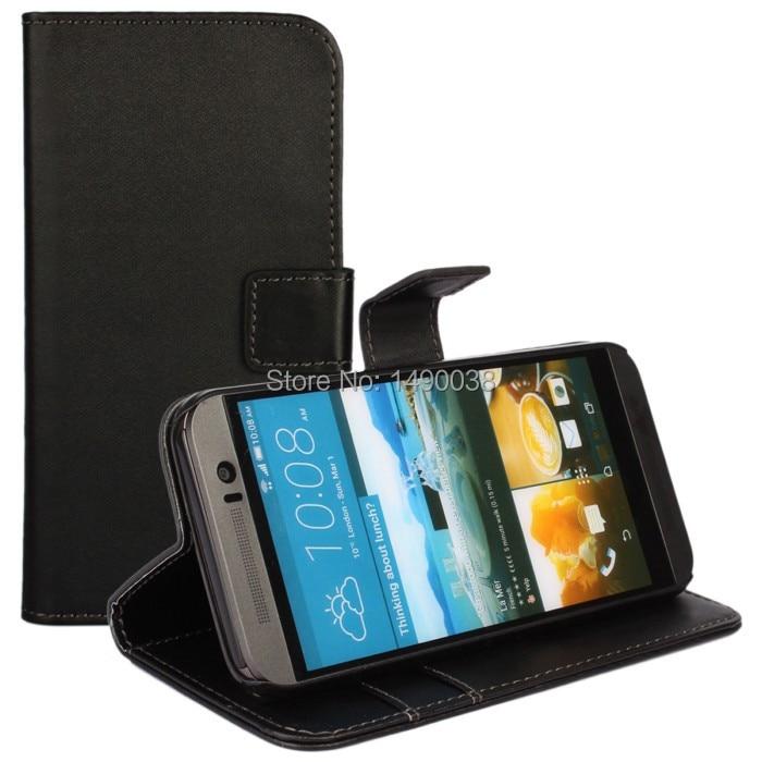 Svart högkvalitativt PU-läderplånbok för HTC One M9 Cover Flip - Reservdelar och tillbehör för mobiltelefoner - Foto 2
