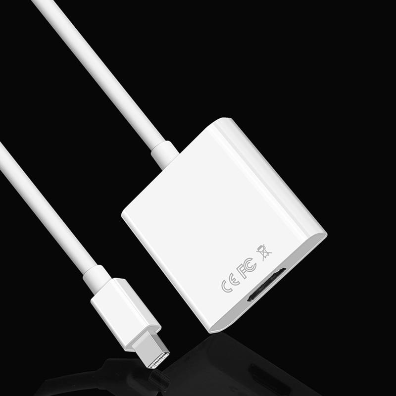 Mini Displayport to HDMI Thunder Mini DP to HDMI Adapter Displayport HDMI 4K Digital Audio Converter HDMI 2.0 Extender Converter