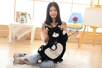 about 50cm black cat hug small fish soft plush toy large throw pillow birthday gift b0890 lovely giant panda about 70cm plush toy t shirt dress panda doll soft throw pillow christmas birthday gift x023