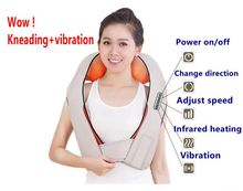 Top Grade Vibration And Kneading Massage Machine Shoulder Neck Massage Shawl Car Home Dual-use Kneading Neck Shoulder Massager