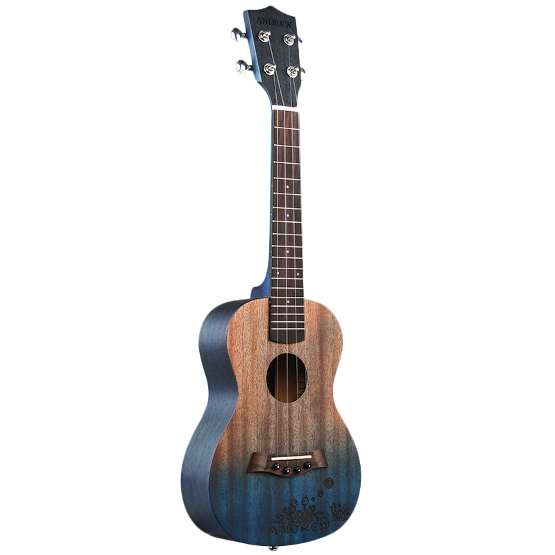 ANDREW Ukulele Concert Ukulele 23 Inch 4 Nylon Strings Mini Guitar Hawaiian Mahogany Uke Stringed Instrument 6 Styles