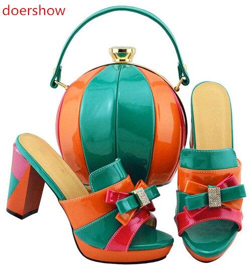 F Tasche Frauen Hei Doershow Und Sets Verkauf er Italien Schuhe Set Afrikanische Hochzeit Zu Sortieren 1lFKJc