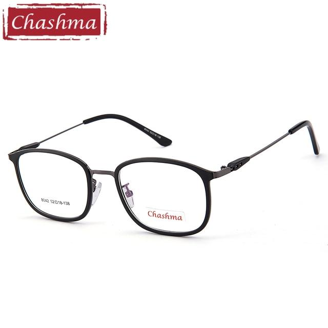 0c16178a229a2 Chashma Marca Design Simples Homens Vidros Ópticos armacao parágrafos  oculos de grau masculino Armações de óculos