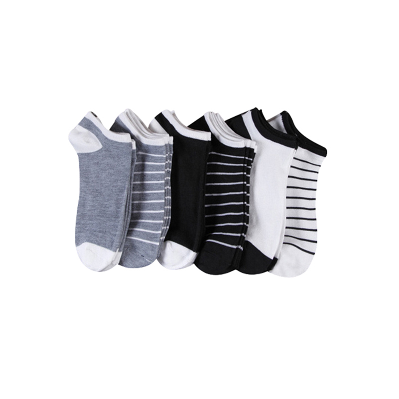 5 Pairs/lot Men Cotton Ankle Socks Men's Business Casual Solid Black White Short Sock Meias Calcetines Male Spring Summer Socks