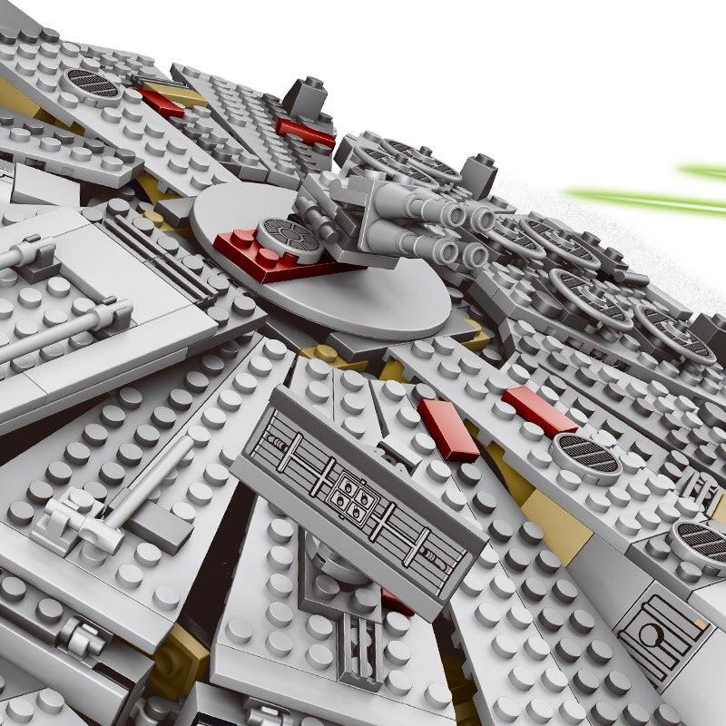 LOZ 1381 pz Star Wars Blocchi di Costruzione di Modello Millennium Falcon Figura Compatibile Con Legoinglys Star Wars Regalo Giocattoli Per I Bambini