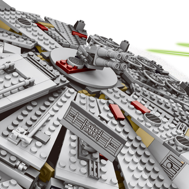 LOZ 1381pcs Star Wars Model Building Blocks Millennium Falcon Figure Compatible With Legoinglys Star Wars Gift Toys For Children star wars 7 darth vader millennium falcon figure toys building blocks set marvel kits rey bb 8 compatible toy gift many types