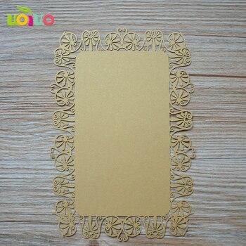 INC40 flower wholesale white wedding birthday invitation cards table menu card template