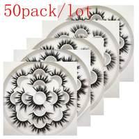 Buzzme H стиль 50 упак./лот 3D искусственной норки ресницы натуральные длинные накладные ресницы Эффектный объем Накладные ресницы макияж ресниц