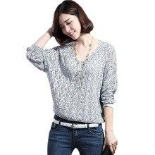цены на Nerw Autumn Women Loose Pullover Bat V Lead Sweatshirt Unlined Upper Garment Hollow Out Sweatshirt Woman Knitting Unlined Upper  в интернет-магазинах