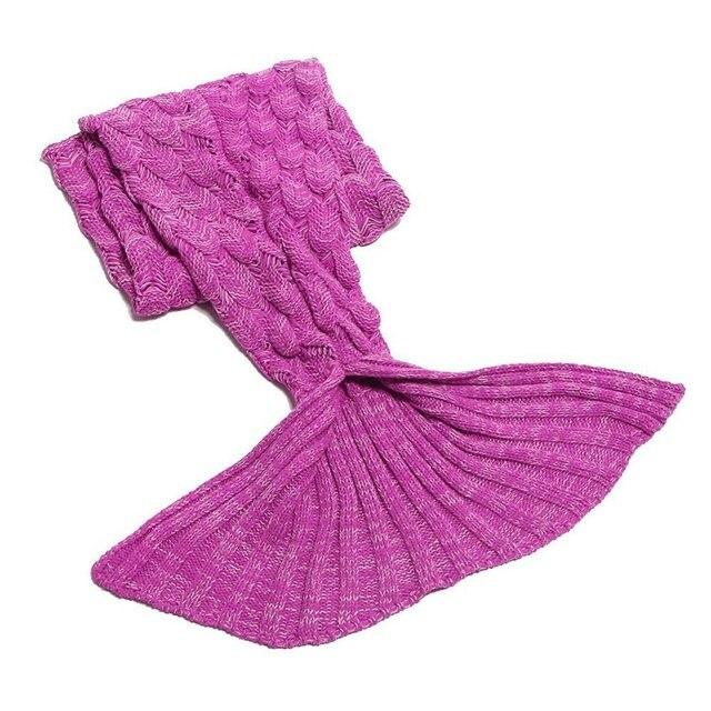 Creative Colorful Mermaid Tail Soft Blanket 3