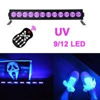 9/12 LED Disco UV Violet Black Lights 12W 36W LED DJ Light DMX Lamp for Party KTV Laser Stage Bar Lamp Backlight Voice Control