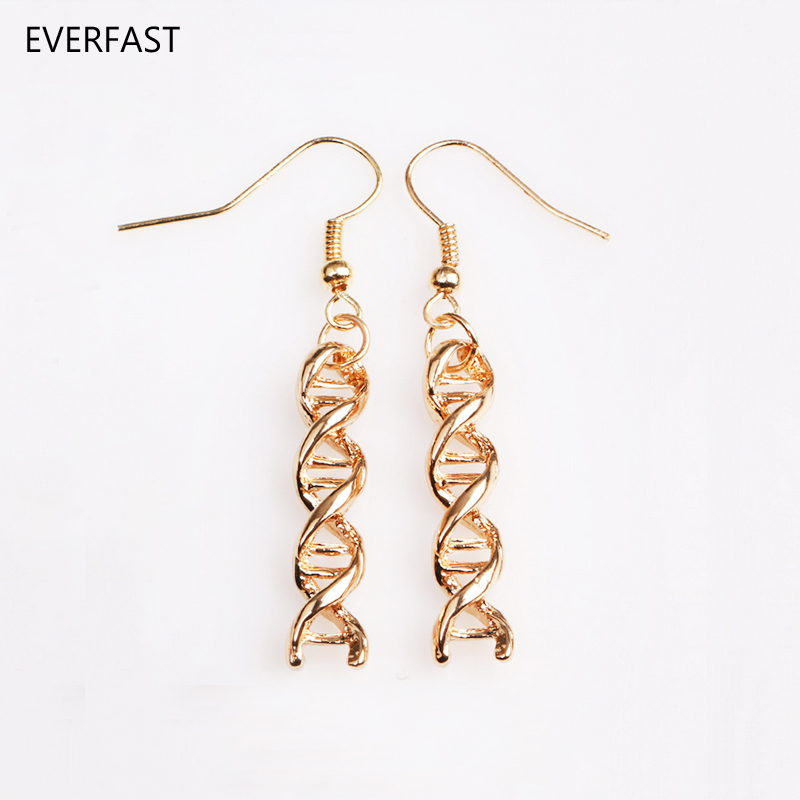Everfast 1Pair Long DNA Earring Molecule Earring Double Helix Unice Earrings For Scientist Fashion Jewelry ...