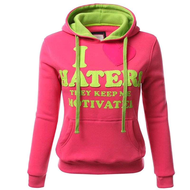 Women Hoodies Pullover Hooded Sweatshirt Long Sleeve Pink Hoodie Letters Print Cute Sweatshirts Female Tracksuit Sudaderas Mujer